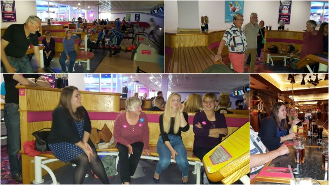 Our last evening with the girls was spent bowling and eating before they headed off into the big wide world.