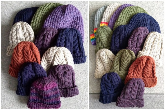 A small selection from our knitting guru.