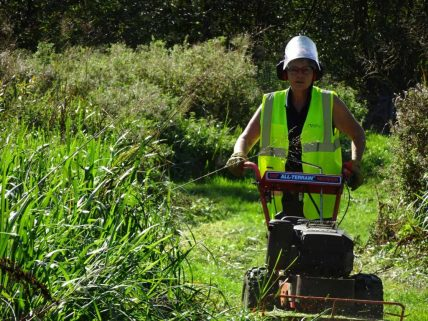 Keeping the pathways clear during the summer months for the public to enjoy.